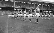 Team parading before the All Ireland Senior Gaelic Football final Kerry v. Galway in Croke Park on 27th September 1964. Galway 0-15 Kerry 0-10.