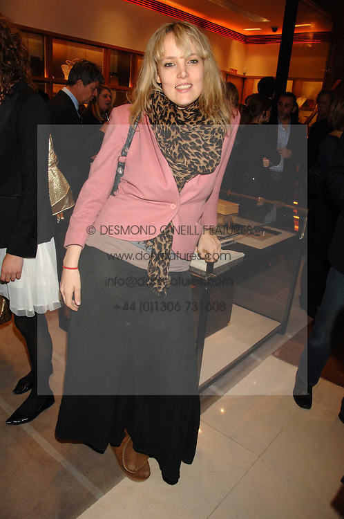 BAY GARNETT at a reception to launch the 2007 Louis Vuitton Christmas windows in collaboration with Central Saint Martins College of Art & Design held at 17-18 New Bond Street, London W1 on 7th November 2007.<br /><br />NON EXCLUSIVE - WORLD RIGHTS