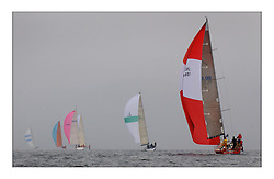 Yachting- The last days racing  of the Bell Lawrie Scottish series 2003 at Tarbert Loch Fyne.  Damp grey skies and light winds decided the final results in most fleets...'Cracklin Rosie' a Corby 40 from Howth won Class one overall...Pics Marc Turner / PFM