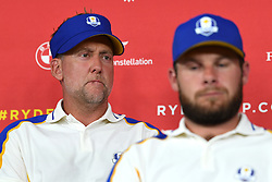 Team Europe's Ian Poulter during a press conference after defeat to Team USA at the end of day three of the 43rd Ryder Cup at Whistling Straits, Wisconsin. Picture date: Sunday September 26, 2021.