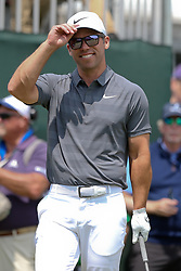 June 24, 2018 - Cromwell, Connecticut, United States - Paul Casey waves to the gallery before teeing off the first hole during the final round of the Travelers Championship at TPC River Highlands. (Credit Image: © Debby Wong via ZUMA Wire)