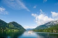 Ferry on Grundlsee, Ausseerland, Salzkammergut, Austria © Rudolf Abraham