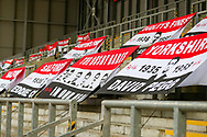 General View of flags during the FA Women's Super League match between Manchester United Women and Reading LFC at Leigh Sports Village, Leigh, United Kingdom on 7 February 2021.