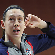 Breanna Stewart, UConn, during warm up before the UConn Huskies Vs USF Bulls 2016 American Athletic Conference Championships Final. Mohegan Sun Arena, Uncasville, Connecticut, USA. 7th March 2016. Photo Tim Clayton