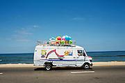 Toy delivery van on Gaza Beach Highway.