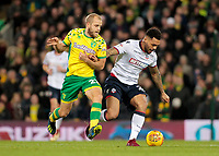 Norwich City's Teemu Pukki chases down Bolton Wanderers' Josh Magennis<br /> <br /> Photographer David Shipman/CameraSport<br /> <br /> The EFL Sky Bet Championship - Norwich City v Bolton Wanderers - Saturday 8th December 2018 - Carrow Road - Norwich<br /> <br /> World Copyright © 2018 CameraSport. All rights reserved. 43 Linden Ave. Countesthorpe. Leicester. England. LE8 5PG - Tel: +44 (0) 116 277 4147 - admin@camerasport.com - www.camerasport.com