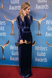 February 17, 2019 - Los Angeles, California, United States of America - Maggie Cohn, winner of Adapted Long Form, poses in the press room of the 2019 Writers Guild Awards at the Beverly Hilton Hotel on Sunday February 17, 2019 in Beverly Hills, California. JAVIER ROJAS/PI (Credit Image: © Prensa Internacional via ZUMA Wire)