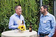 UpWest Labs hosts their social hour event at Pizzeria Delfina in Palo Alto, California, on September 26, 2018. (Lisa Stone/SOSKIphoto)