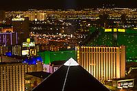 Nighttime overview of the Strip, Las Vegas, Nevada USA