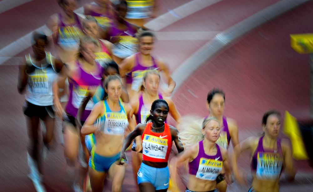 Kenya's Nancy Langat competes in the women's 1500m final
