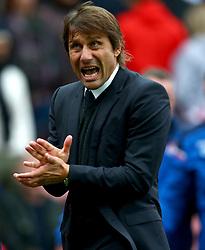Chelsea manager Antonio Conte at half time