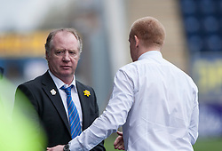 Cowdenbeath's manager Jimmy Nicholl and Falkirk's manager Gary Holt at the end.<br /> Falkirk 5 v 0 Cowdenbeath, Scottish Championship game played today at The Falkirk Stadium.<br /> © Michael Schofield.