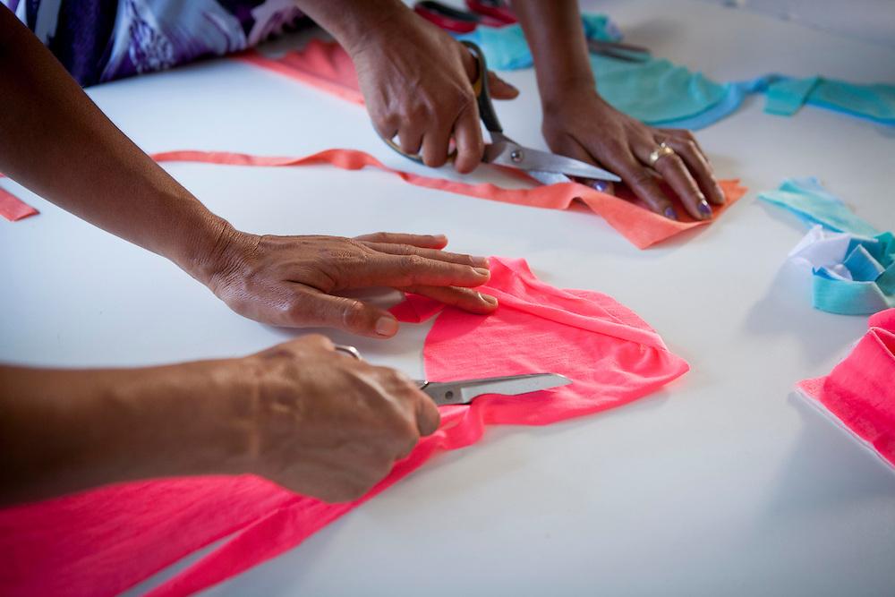Manhuacu_MG, Brasil.<br /> <br /> Costureira de Manhuacu que faz pecas em casa para vender.<br /> <br /> Seamstress of Manhuacu, Minas Gerais making clothes at home to sell.<br /> <br /> Foto: ALEXANDRE MOTA / NITRO