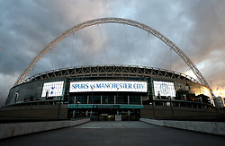 A general view of Wembley Stadium before the Premier League match between Tottenham Hotspur and Manchester City.