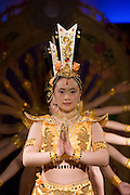 Dancers performing traditional show on Victoria Line Cruise Ship for Western tourists, Yangtze River, China