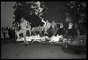 Burning Boat, Christchurch college, Oxford. 1985,, Oxford: The Last Hurrah. Negative scans.