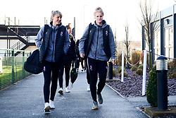 Gemma Evans of Bristol City and Jasmine Matthews of Bristol City arrives at Stoke Gifford Stadium prior to kick off - Mandatory by-line: Ryan Hiscott/JMP - 19/01/2020 - FOOTBALL - Stoke Gifford Stadium - Bristol, England - Bristol City Women v Liverpool Women - Barclays FA Women's Super League