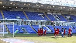 Joe Ward of Peterborough United shoots at goal from a free-kick - Mandatory by-line: Joe Dent/JMP - 27/02/2021 - FOOTBALL - Weston Homes Stadium - Peterborough, England - Peterborough United v Wigan Athletic - Sky Bet League One