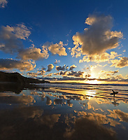 Evening reflections, Gwithian, Cornwall
