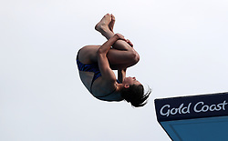 Scotland's Gemma McArthur competes in the Women's 10m Platform Preliminary at the Optus Aquatic Centre during day eight of the 2018 Commonwealth Games in the Gold Coast, Australia. PRESS ASSOCIATION Photo. Picture date: Thursday April 12, 2018. See PA story COMMONWEALTH Diving. Photo credit should read: Danny Lawson/PA Wire. RESTRICTIONS: Editorial use only. No commercial use. No video emulation.