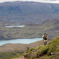 Amazing views on the first day trail of the famous Torres del Paine trekking route.