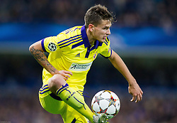 Petar Stojanovic of Maribor during football match between Chelsea FC and NK Maribor, SLO in Group G of Group Stage of UEFA Champions League 2014/15, on October 21, 2014 in Stamford Bridge Stadium, London, Great Britain. Photo by Vid Ponikvar / Sportida.com