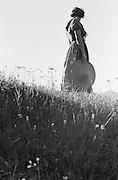 Herta Lindinger Walking Along Dirt Road, Austria, 1935