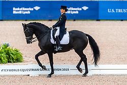 Davydova Evgenija, RUS, Awakening<br /> World Equestrian Games - Tryon 2018<br /> © Hippo Foto - Dirk Caremans<br /> 12/09/18