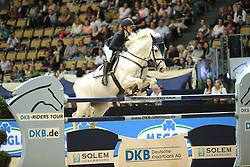 Madenova Maria, (RUS), Kleiner Onkel<br /> Champion von München<br />  Jumping München 2015<br /> © Hippo Foto - Stefan Lafrentz