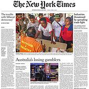 New York Times Front Page Tearsheet by Australian Melbourne based photojournalist Asanka Brendon Ratnayake