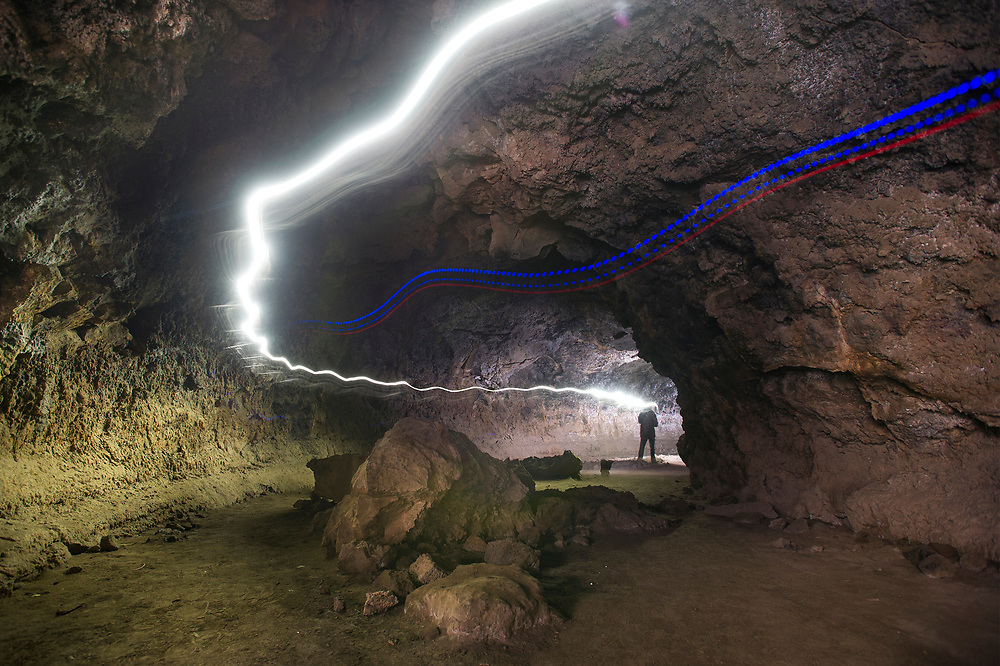 Boyd Cave, located off China Hat Road south of Bend, is a year-round option for outdoor enthusiasts to explore. The well-preserved lava tube is approximately 1,880 feet long and features an interesting display of flow structures throughout its entire length.