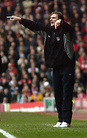 Photo. Jed Wee<br />Liverpool v Middlesbrough, FA Barclaycard Premiership, Anfield, Liverpool. 08/02/2003.<br />Liverpool's Assistant Manager Phil Thompson takes charge for the day in the absence of the Gerard Houllier who was taken ill.