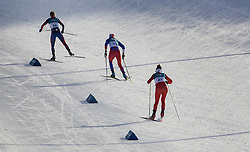 February 15, 2018 - Pyeongchang, MN, SKO - Jessie Diggins (56) of Afton, Minn., leads a group of skiers up a climb on her way to finish fifth in the women's 10km Free at Alpensia Cross-Country Centre on Feb. 15, 2018 during the Pyeongchang Winter Olympics. (Credit Image: © Carlos Gonzalez/TNS via ZUMA Wire)