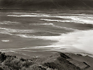 Beautiful Badwater (from Dante's View, Death Valley). 4x5 negative (October 2017), sepia/selenium toned silver gelatin print.