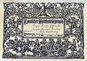 German Reich Telegraph sent from Berlin 1938.  Embellished by a depicition of a peasent wedding train wth riders and angles playing musical instruments. Erich Feyerabend.