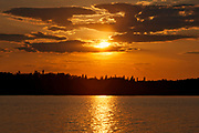 Pakwash Lake at sunset<br />