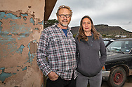 The Glovers at their home in Alpine Texas near the  ETPs Trans-Pecos pipeline .