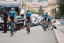 Movistar Women's Team at the 2020 La Course By Le Tour with FDJ, a 96 km road race in Nice, France on April 16, 2016. Photo by Twila Federica Muzzi/velofocus.com