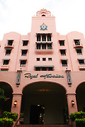 The Royal Hawaiian Hotel in Waikiki. Also known as the Pink Palace.