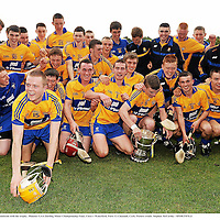 10 July 2011; Clare players celebrate with the trophy. Munster GAA Hurling Minor Championship Final, Clare v Waterford, Pairc Ui Chaoimh, Cork. Picture credit: Stephen McCarthy / SPORTSFILE