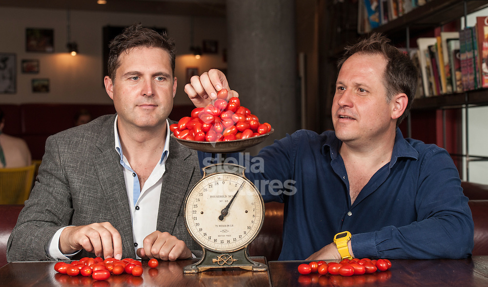 Picture by Daniel Hambury/Stella Pictures Ltd +44 7813 022858<br /> 15/07/2013<br /> Co-founders of LEON restaurant chain, Henry Dimbleby (right) and John Vincent, who have been asked by the government to examine school food across the country. They will create an action plan to accelerate improvement in school food and determine the role of food more broadly in school life.