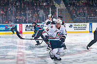 KELOWNA, CANADA - SEPTEMBER 22:  Luc Smith #24 of the Kamloops Blazers skates against the Kelowna Rockets  on September 22, 2018 at Prospera Place in Kelowna, British Columbia, Canada.  (Photo by Marissa Baecker/Shoot the Breeze)  *** Local Caption ***