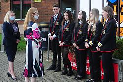 Lochgelly High School Exam results<br /> <br /> Shirley-Anne Somerville with Head teacher Debbie Aitkin and some of the Lochgelly High Students<br /> <br /> (c) David Wardle | Edinburgh Elite media