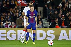 November 29, 2017 - Barcelona, Catalonia, Spain - Lucas Digne during the Copa del Rey match between FC Barcelona v Real Murcia CF,i n Barcelona, on November 29, 2017. (Credit Image: © Joan Valls/NurPhoto via ZUMA Press)