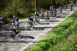 Omer Shapira (ISR) in the bunch at La Flèche Wallonne Femmes 2018, a 118.5 km road race starting and finishing in Huy on April 18, 2018. Photo by Sean Robinson/Velofocus.com