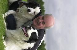 Eddie Sander with his Dogs Jackson and Inka<br /><br />18 June 2004<br /><br />Copyright Paul David Drabble<br /> [#Beginning of Shooting Data Section]<br />Nikon D1 <br /> Focal Length: 80mm<br /> Optimize Image: <br /> Color Mode: <br /> Noise Reduction: <br /> 2004/06/18 09:42:46.4<br /> Exposure Mode: Manual<br /> White Balance: Auto<br /> Tone Comp: Normal<br /> JPEG (8-bit) Fine<br /> Metering Mode: Center-Weighted<br /> AF Mode: AF-S<br /> Hue Adjustment: <br /> Image Size:  2000 x 1312<br /> 1/200 sec - F/7.1<br /> Flash Sync Mode: Front Curtain<br /> Saturation: <br /> Color<br /> Exposure Comp.: 0 EV<br /> Auto Flash Mode: External<br /> Sharpening: Normal<br /> Lens: 80-200mm F/2.8<br /> Sensitivity: ISO 200<br /> Image Comment: <br /> [#End of Shooting Data Section]