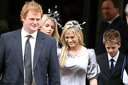 (L-R) George McCorquodale,Kitty Spencer, Viscount Althorp, Lady Amelia Spencer, Lady Eliza Victoria Spencer and George Rupert Freud at the Service of Thanksgiving for the life of Diana, Princess of Wales, at the Guards' Chapel, London. PRESS ASSOCIATION Photo. Picture date: Friday August 31, 2007. Prince William and Prince Harry organised the Thanksgiving Service to commemorate the life of their mother on the tenth anniversary of her death. See PA DIANA stories. Photo credit should read: Lewis Whyld/PA