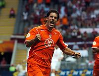 Ruud Van Nistelrooy celebrates scoring 1st goal<br />Holland EURO 2004<br />Holland v Latvia 23/06/04 EURO 2004 PORTUGAL<br />Photo Robin Parker Fotosports International