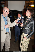 MATT HALE; BARBARA NICHOLLS, Launch of Rachel Kelly's memoir 'Black Rainbow' about recovering from depression with the help of poetry published by Hodder & Stoughton , ( Author proceeds will be given to the charities SANE and United Response ). Cafe of the National Gallery.  London. 7 May 2014