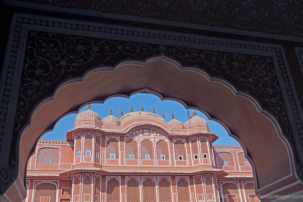 Asia, India, Jaipur. Chandra Mahal at Jaipur City Palace.